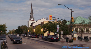 Downtown Oakville Business Shops and Restaurants